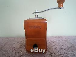 Vintage ZASSENHAUS Western Germany Wood Coffee Grinder