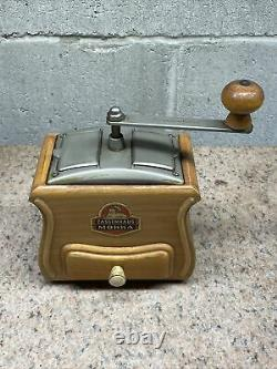 Vintage Zassenhaus Mokka Coffee Grinder Double Sided Wood