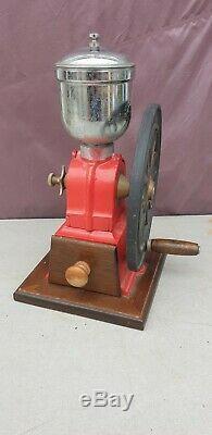 Vintage cast iron Coffee Grinder Hand Crank Mill