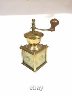 Vintage coffee grinder PICHLER-SCHEUCHER AUSTRIA brass 50s