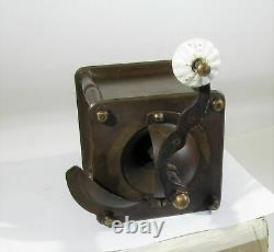 Vintage coffee grinder brass