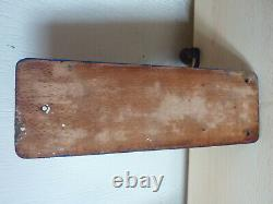 Wall COFFEE GRINDER Antique Wall Mount Mill machinal tool Machine Age iron wood