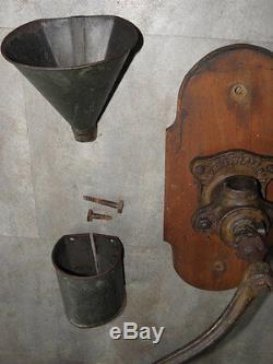 Wall big Coffee grinder antique mutzig crank Kaffee caffè century machine MILL